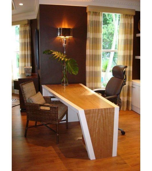 Funky desk in modern home office.
