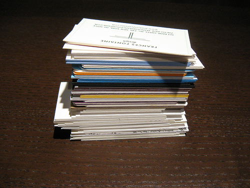 What will you do with all those business cards?