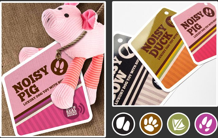 Pet product label designs by Threerooms.