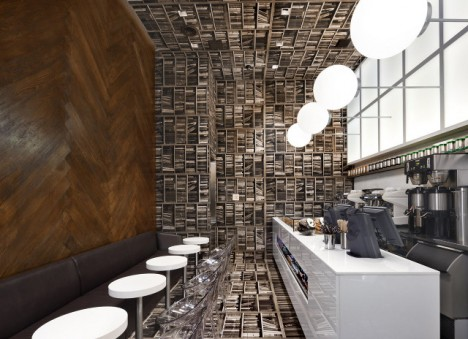 """Cafe design by by Nemaworkshop, """"a team of architects, designers and creative thinkers."""