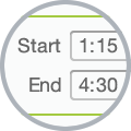 employee time clock software with a start & finish time