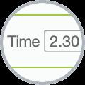 timesheet app showing duration