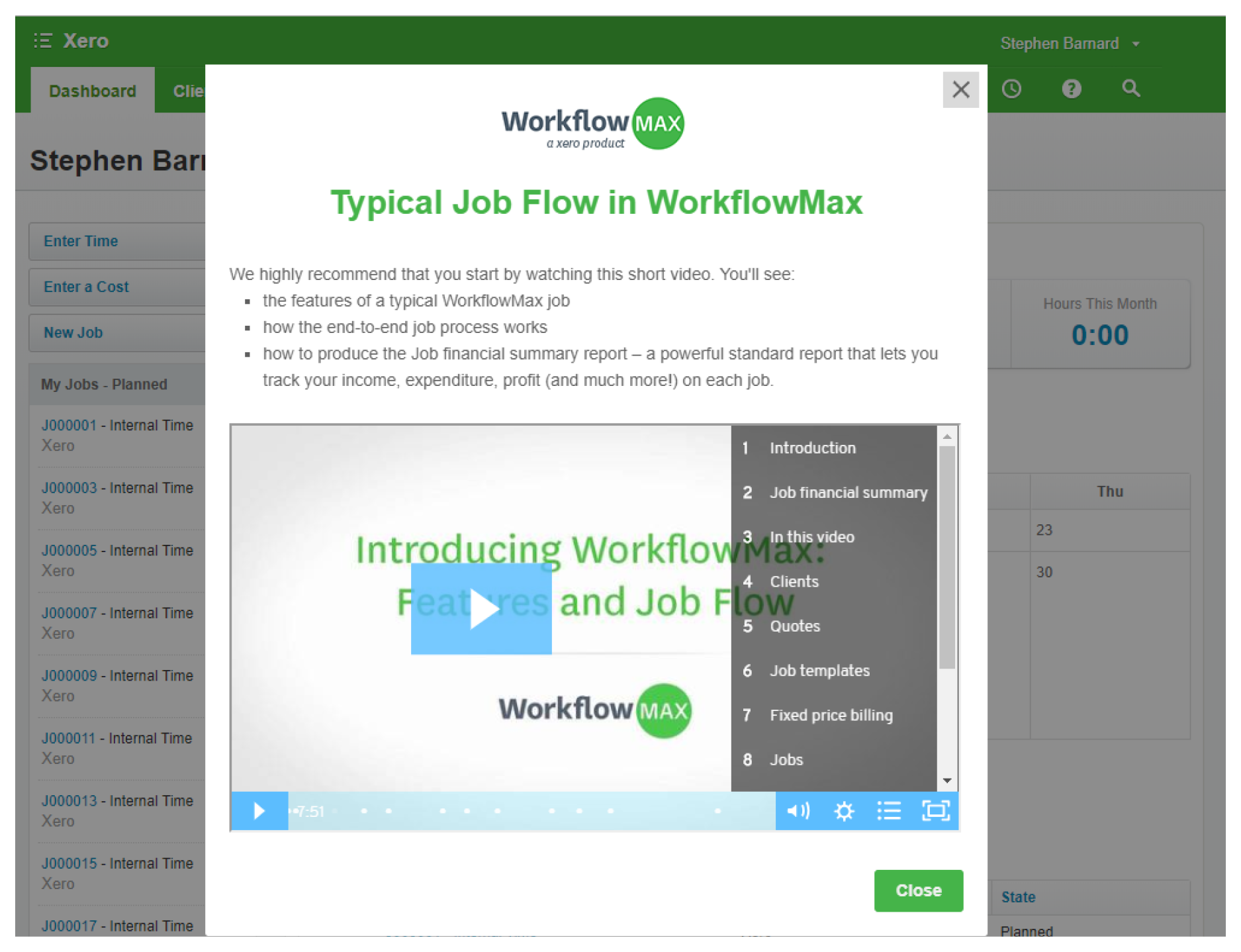 Appcues Typical Job Flow in WorkflowMax