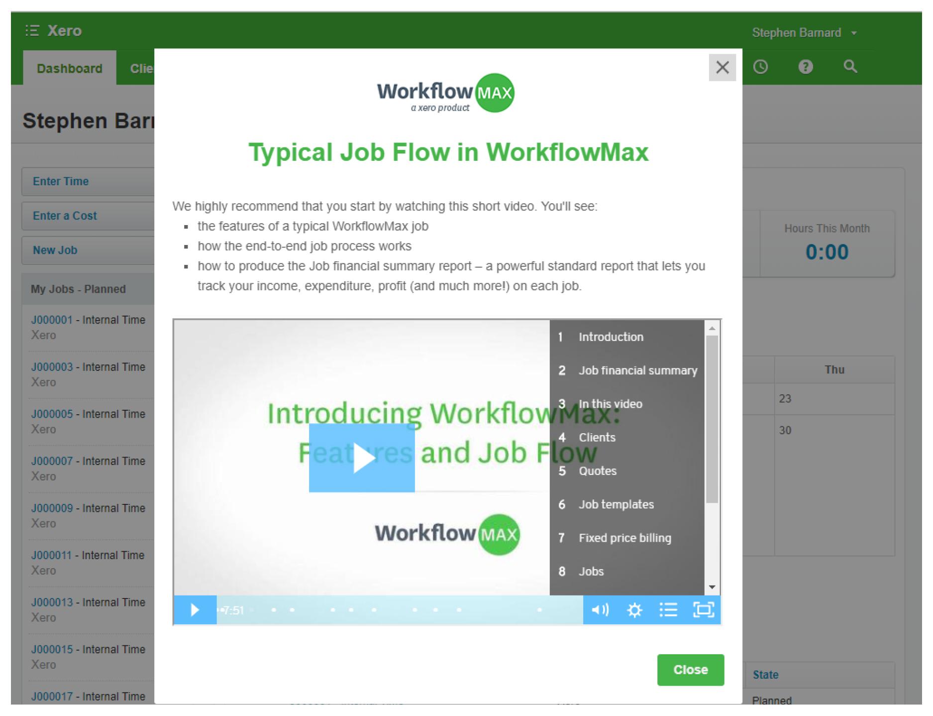 Appcues Typical Job Flow in WorkflowMax
