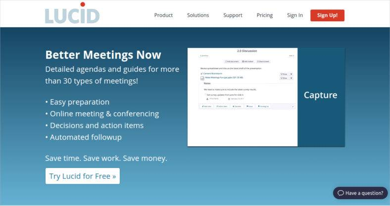 Lucid-Meetings app