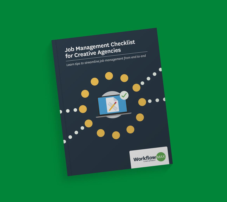 Job management checklist for creative agencies