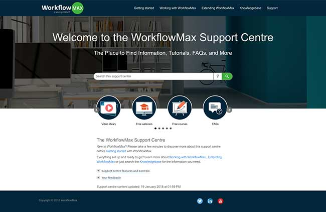 WorkflowMax new support centre home.jpg
