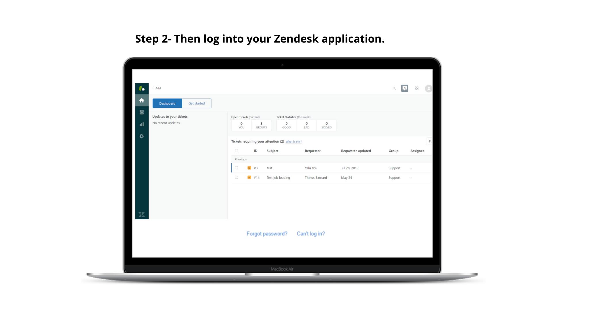 Zendesk Step2