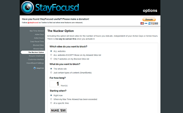 stay focused screenshot