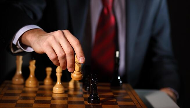 Try this simple 8 step strategic plan outline template for small businessman playing chess strategyg flashek Gallery