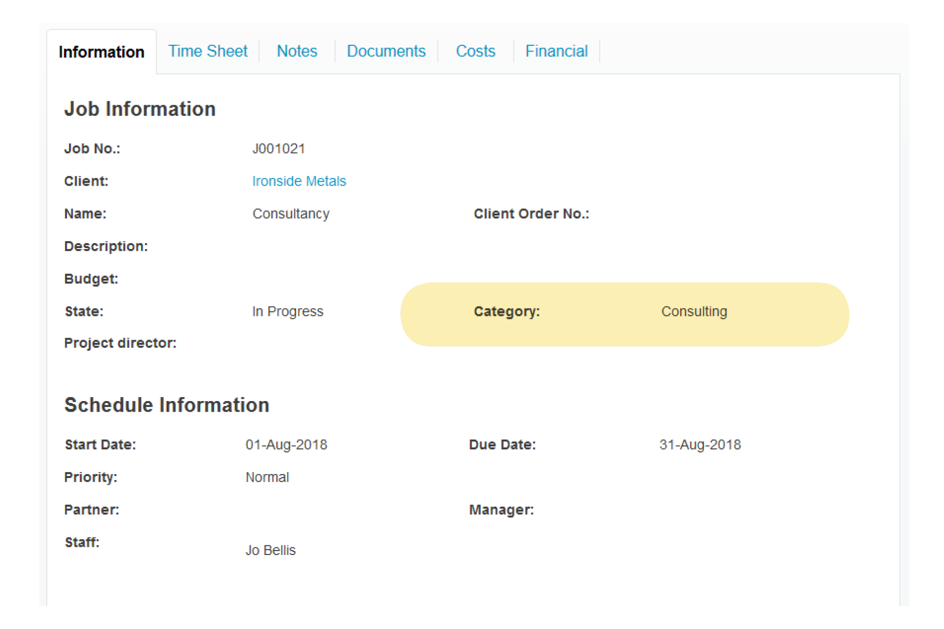 job category - consulting