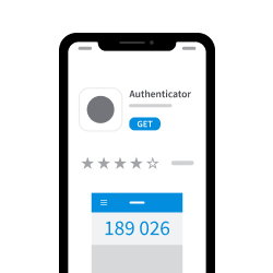Screenshot of app store page for authenticator