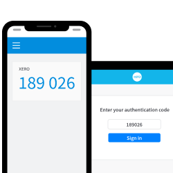 Screenshot of authenticator app