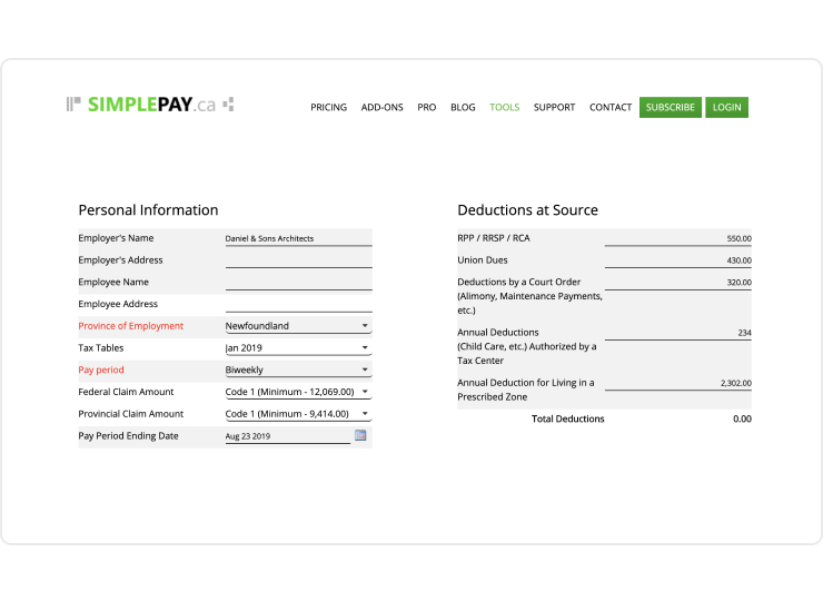 Import payroll