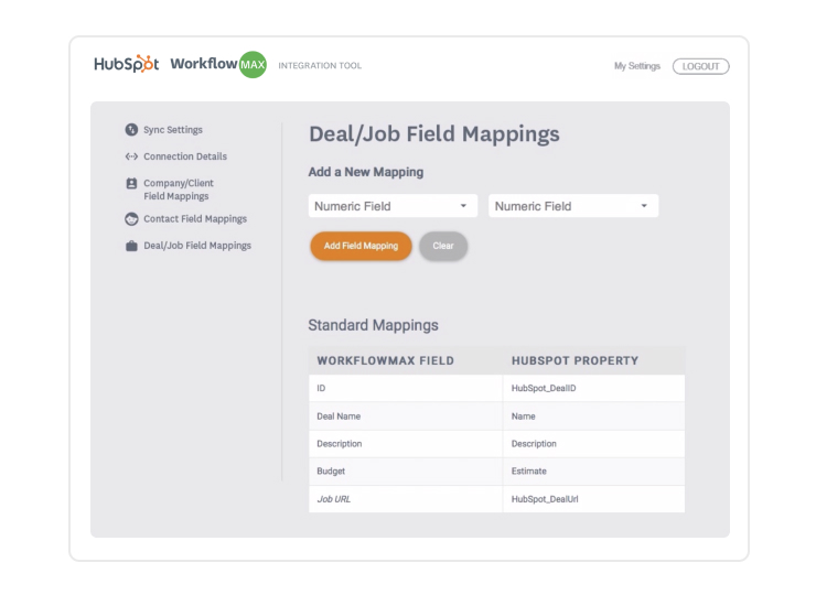 set up field mapping