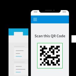 Screenshot of QR Code scanner screen