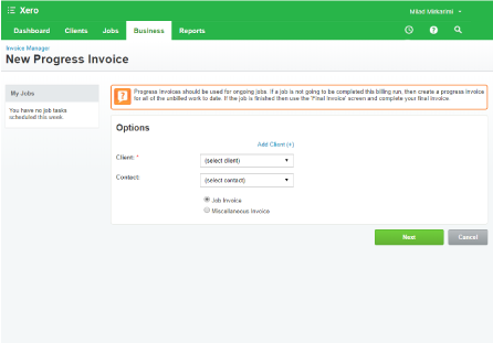 send invoices workflowmax image