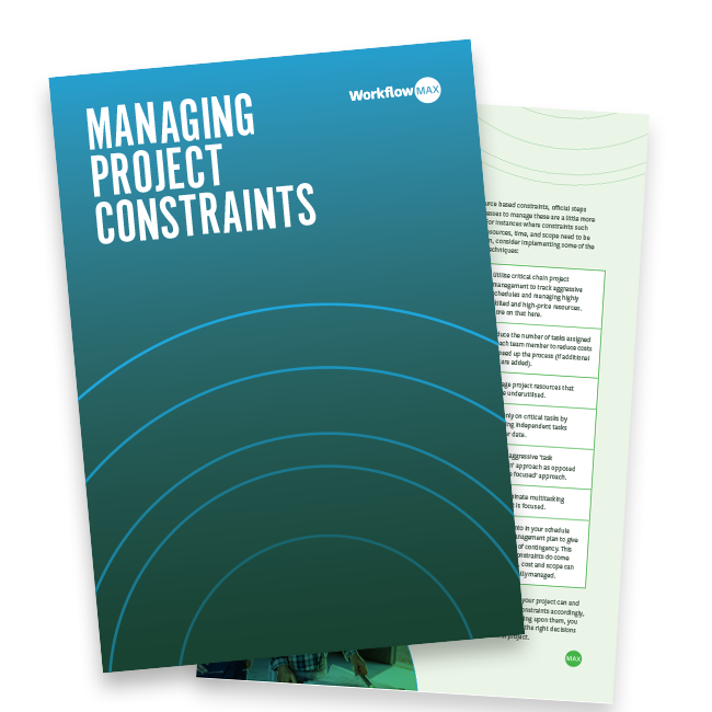 Guide to Project Management Constraints | WorkflowMax